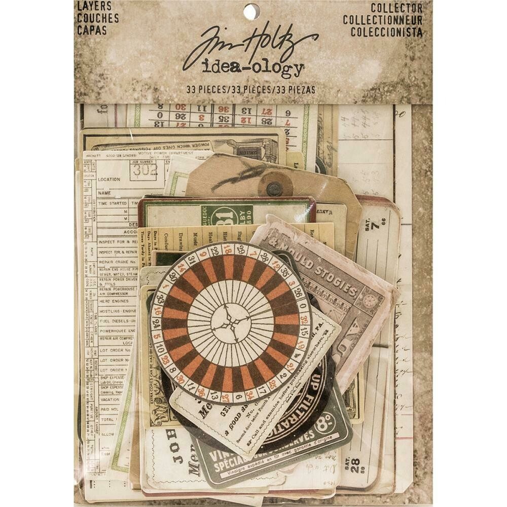Tim Holtz Idea-Ology Layers Collector 32 pieces