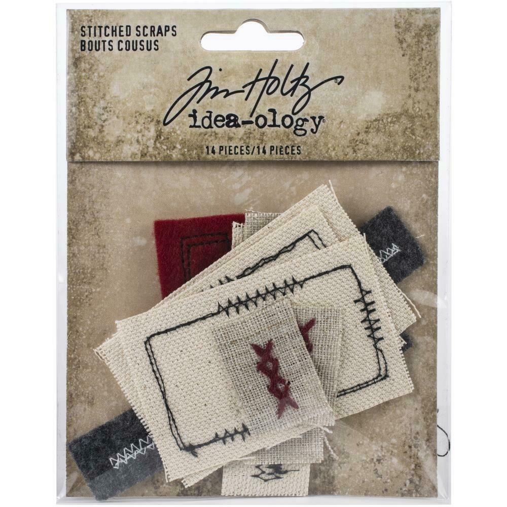 Tim Holtz Idea-Ology Stitched Scraps 14 pieces