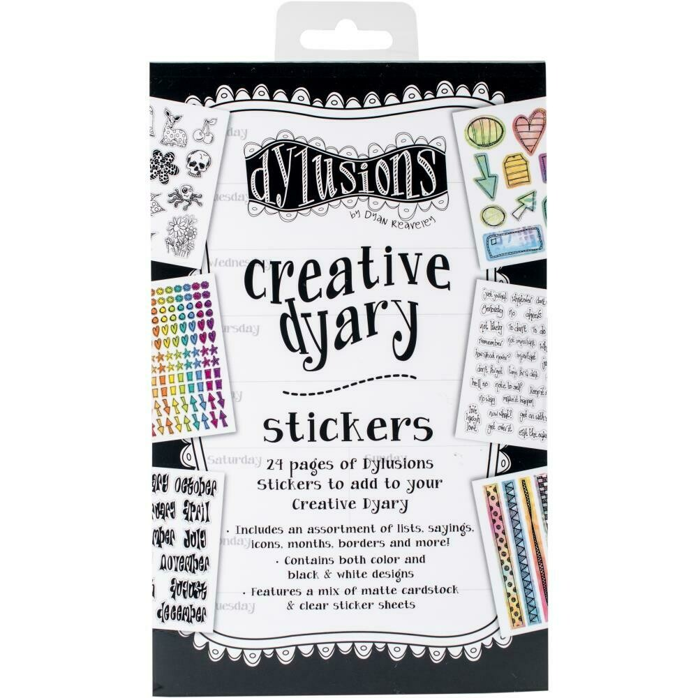 Dylusions Creative Dyary Sticker Books - Assorted
