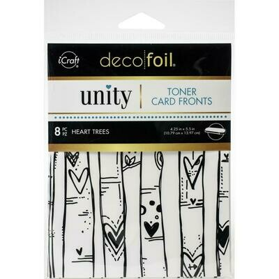 Decofoil Toner Card Front - Heart Trees