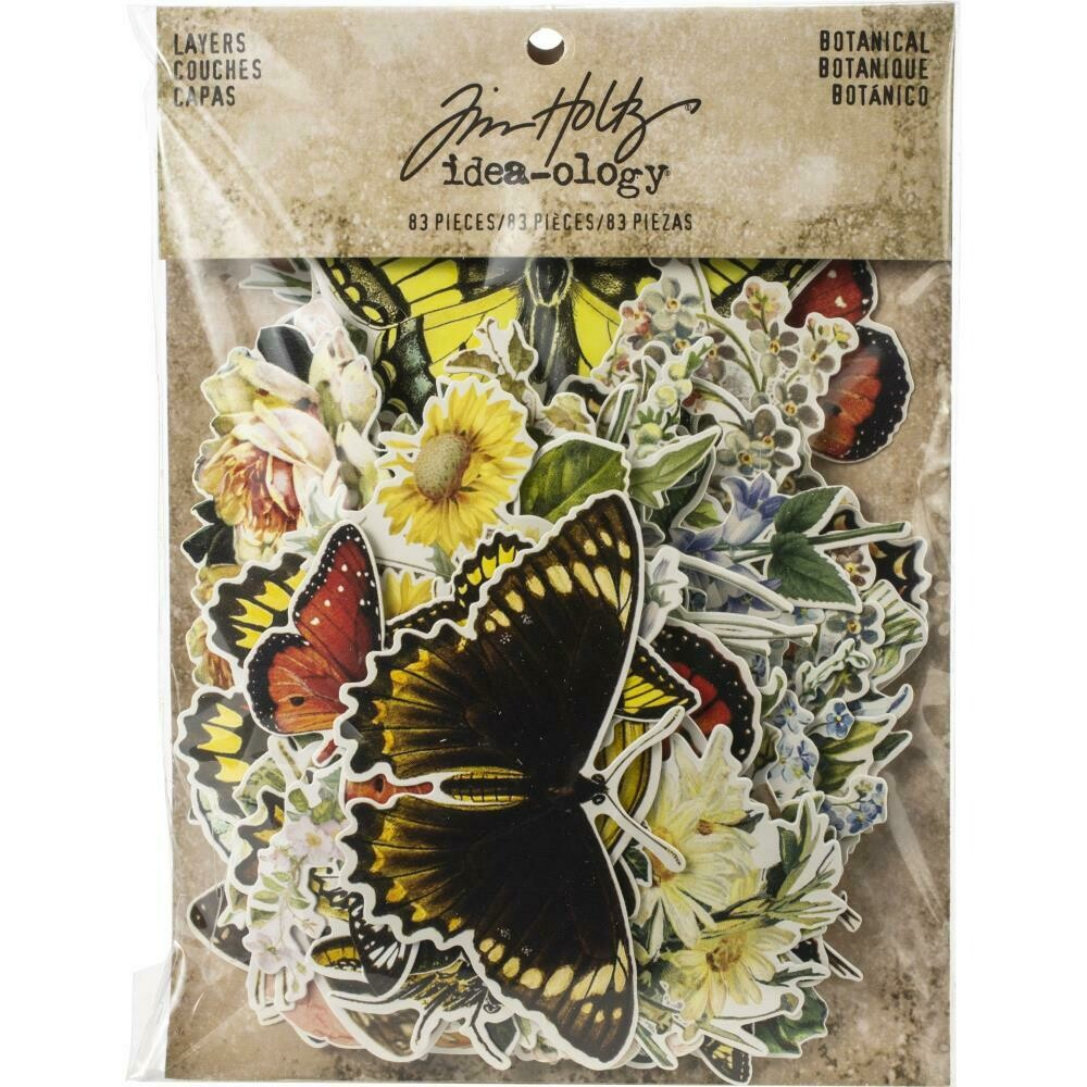 Tim Holtz Idea-Ology Ephemera Pack Botanical