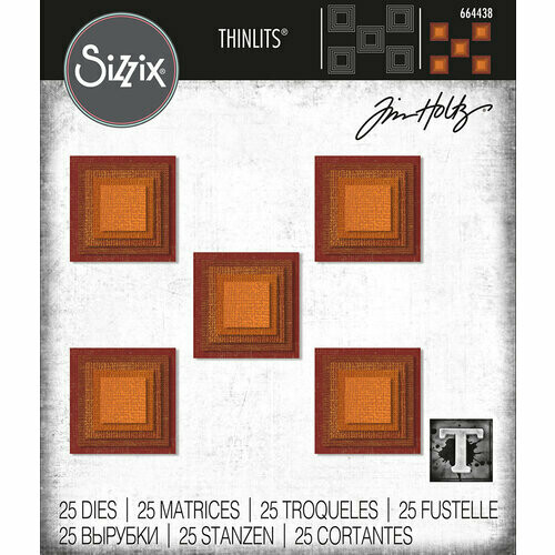 Tim Holtz Sizzix Thinlits Stacked Squares