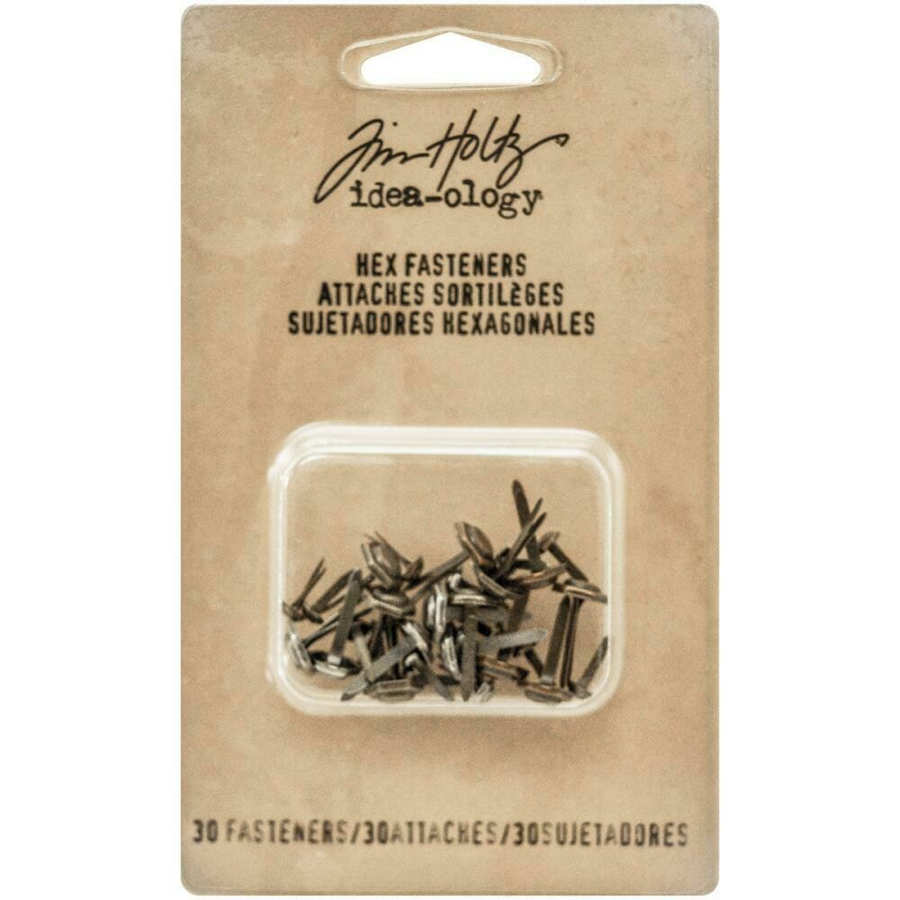 Tim Holtz Idea-Ology Hex Fasteners 30 pack