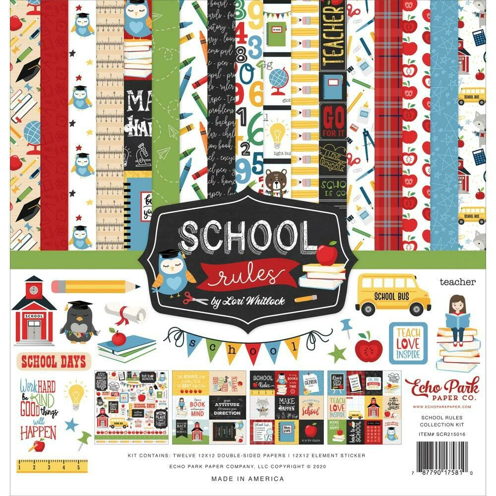 Echo Park School Rules Collection assorted