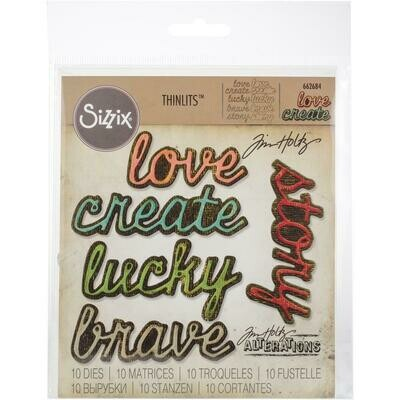 Tim Holtz Sizzix Thinlits Shadow Script #1