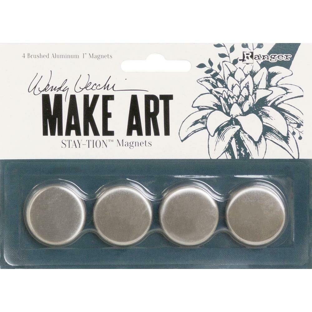 "Wendy Vechhi Make Art Stay-tion 1"" Magnets 4 pack"