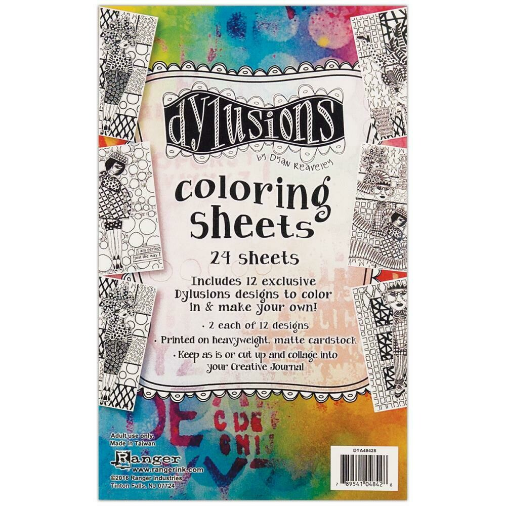 Dylusions Colouring Sheets - Assorted
