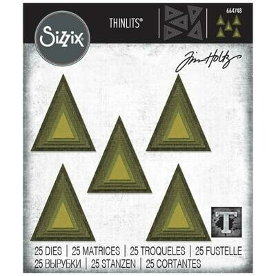 Tim Holtz Sizzix Thinlits Stacked Triangles
