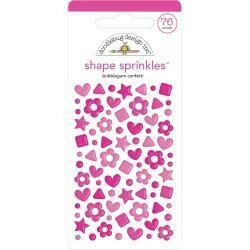 Doodlebug Sprinkles Adhesive Enamel Shapes 76 pkg - Assorted