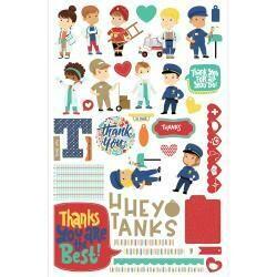 Photo Play Ephemera / Card Kit - First Responders