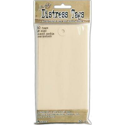 Tim Holtz Distress Tags #8 Heavystock 20/pkg