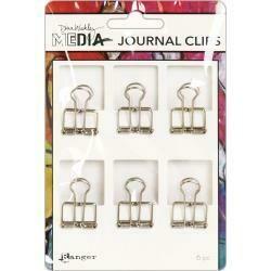 Dina Wakley Media Journal Clips small 6/pkg