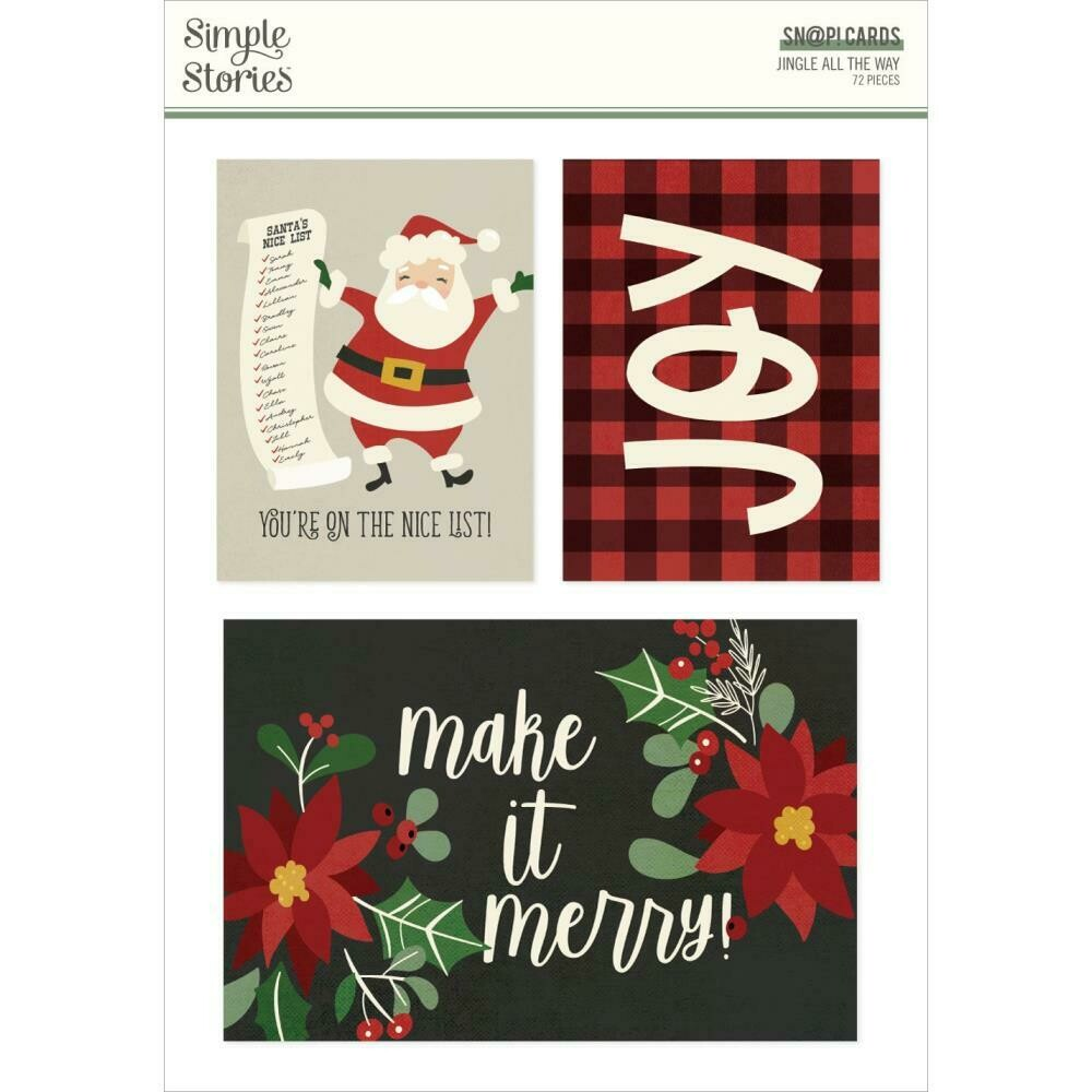 Simple Stories SN@P Cards Jingle all the Way 72/pkg