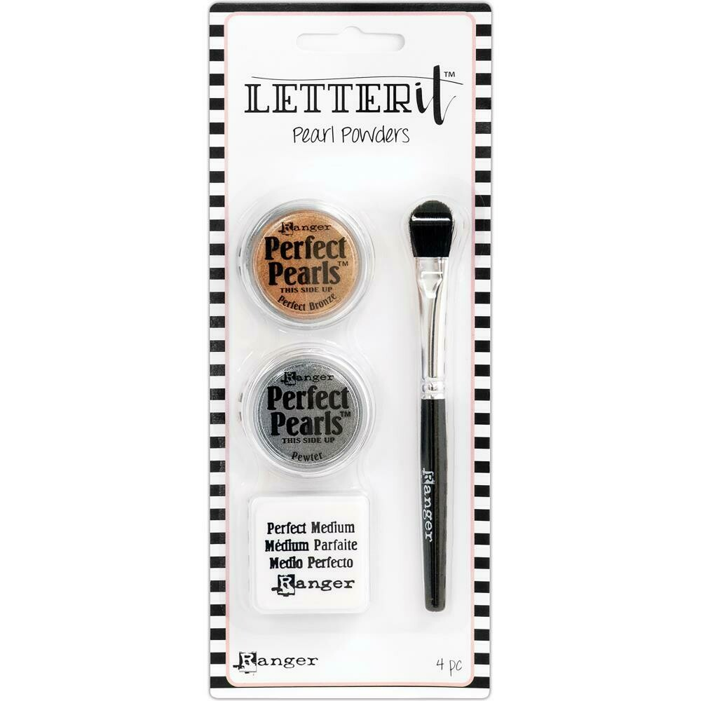 Ranger Letter it Perfect Pearls Pigment Powder Sets assorted