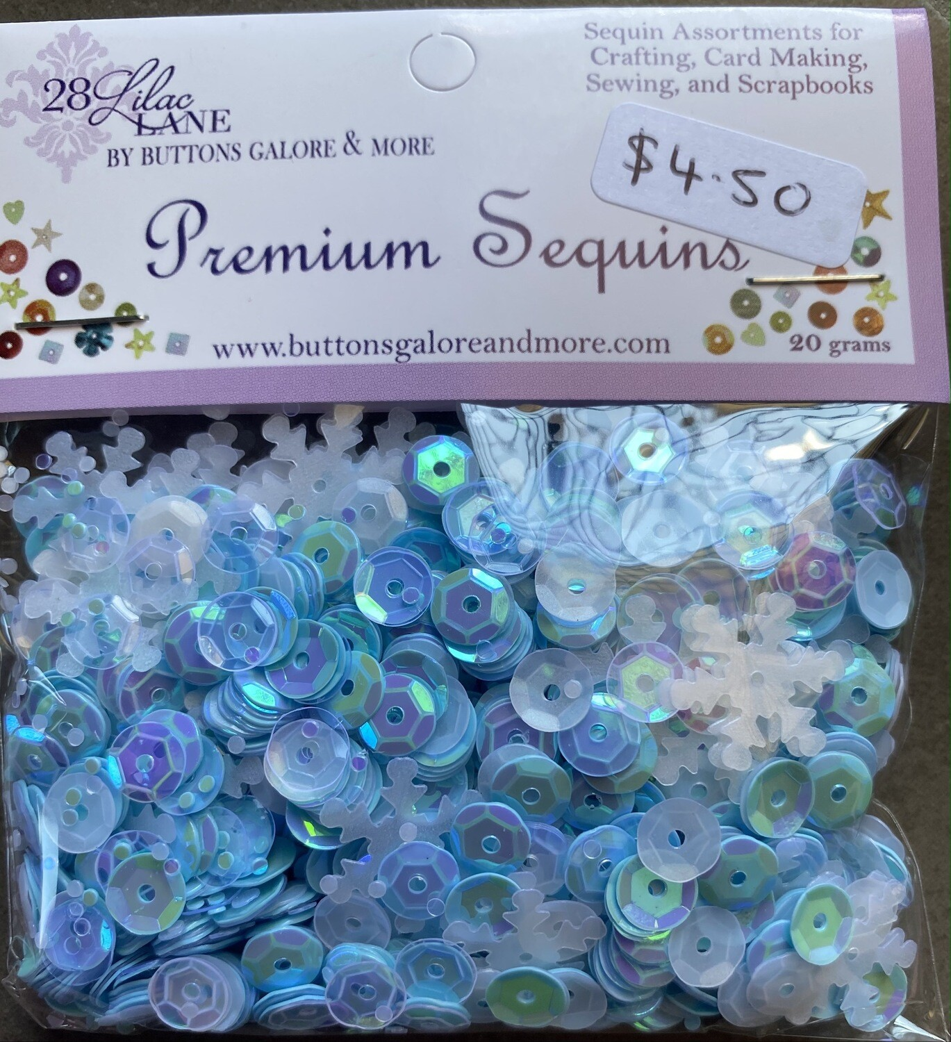 28 Lilac Lane Premium Sequins 20grams - assorted