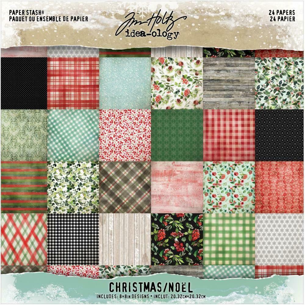 Tim Holtz Idea-Ology Christmas 2020 Paper Stash 8x8 24/pkg