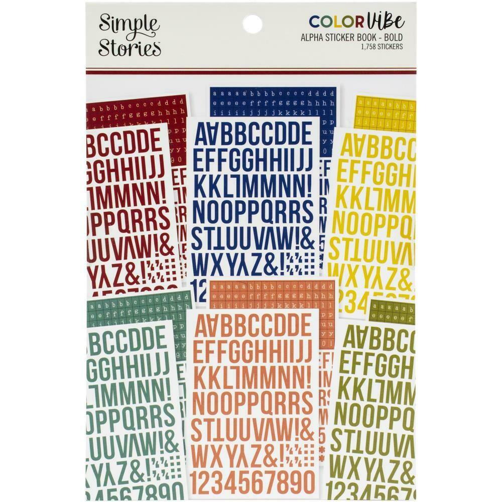 Simple Stories Color Vibe Alpha Sticker Book 1,758/pkg