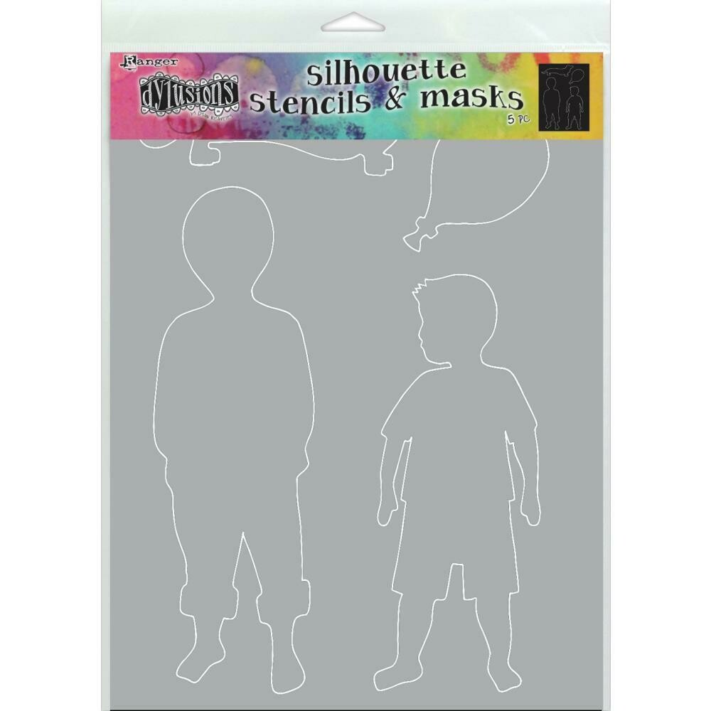 PREORDER Dylusions Stencil and Mask Large Otis