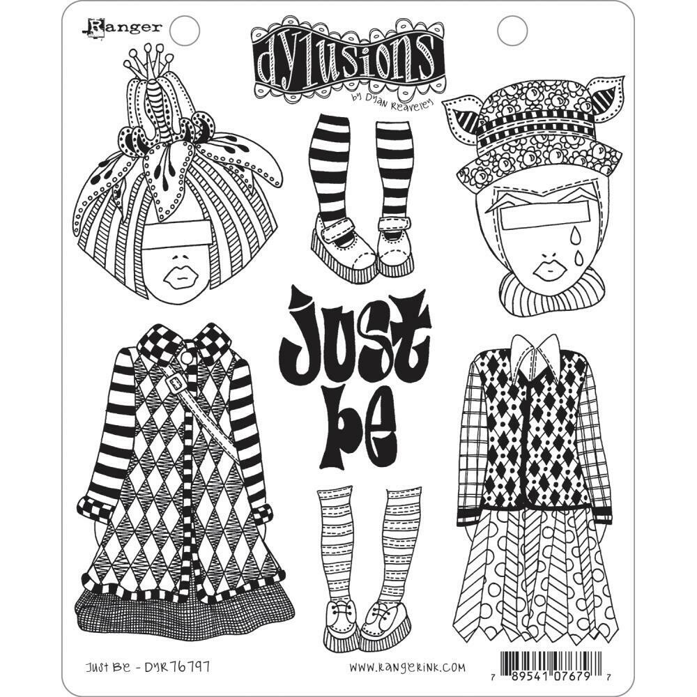 PREORDER Dylusions Cling Stamp Just Be
