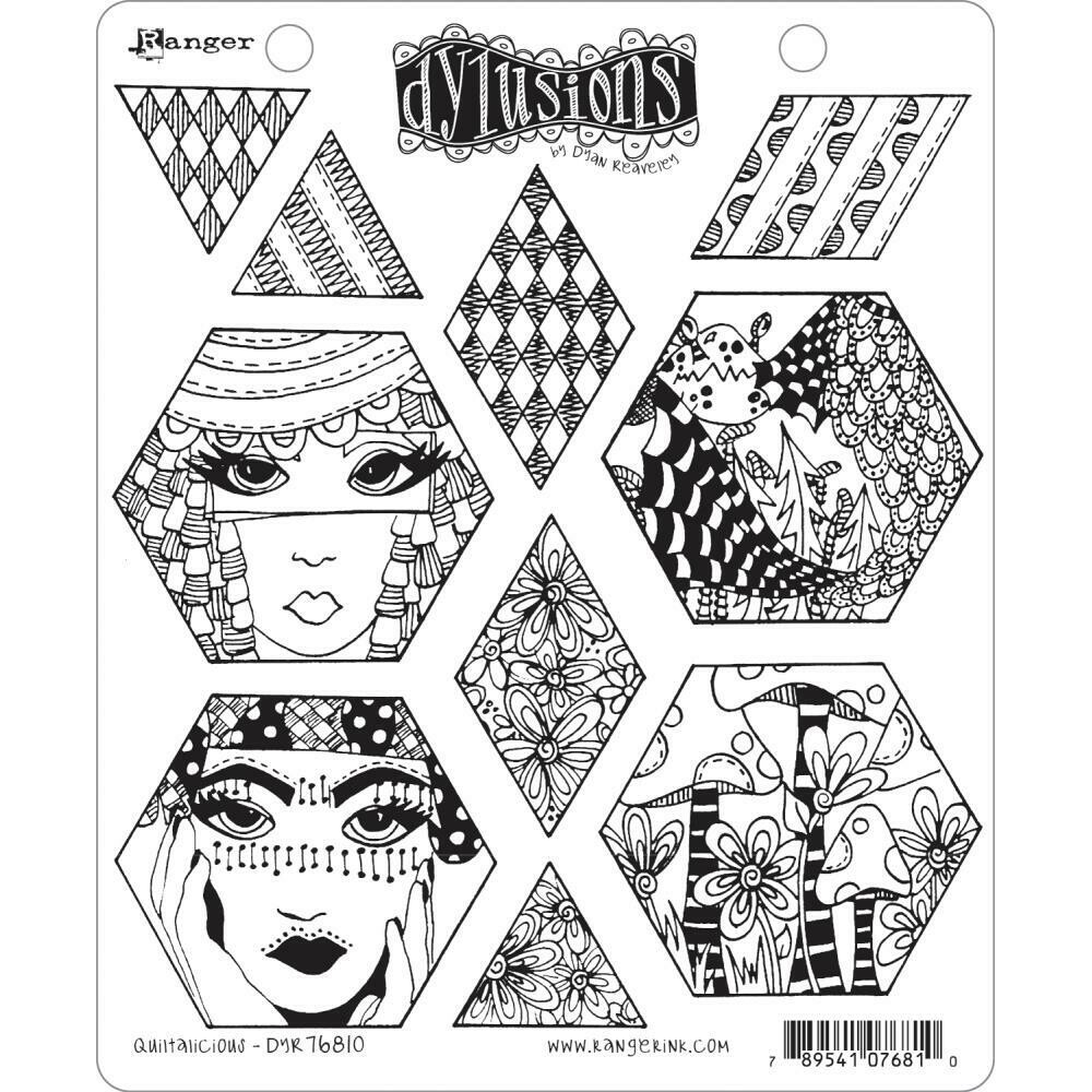 PREORDER Dylusions Cling Stamp Quiltalicious