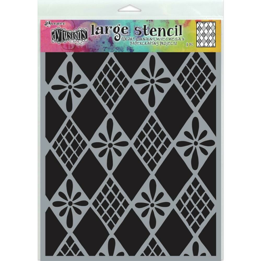 PREORDER Dylusions Stencil Large Diamonds are Forever