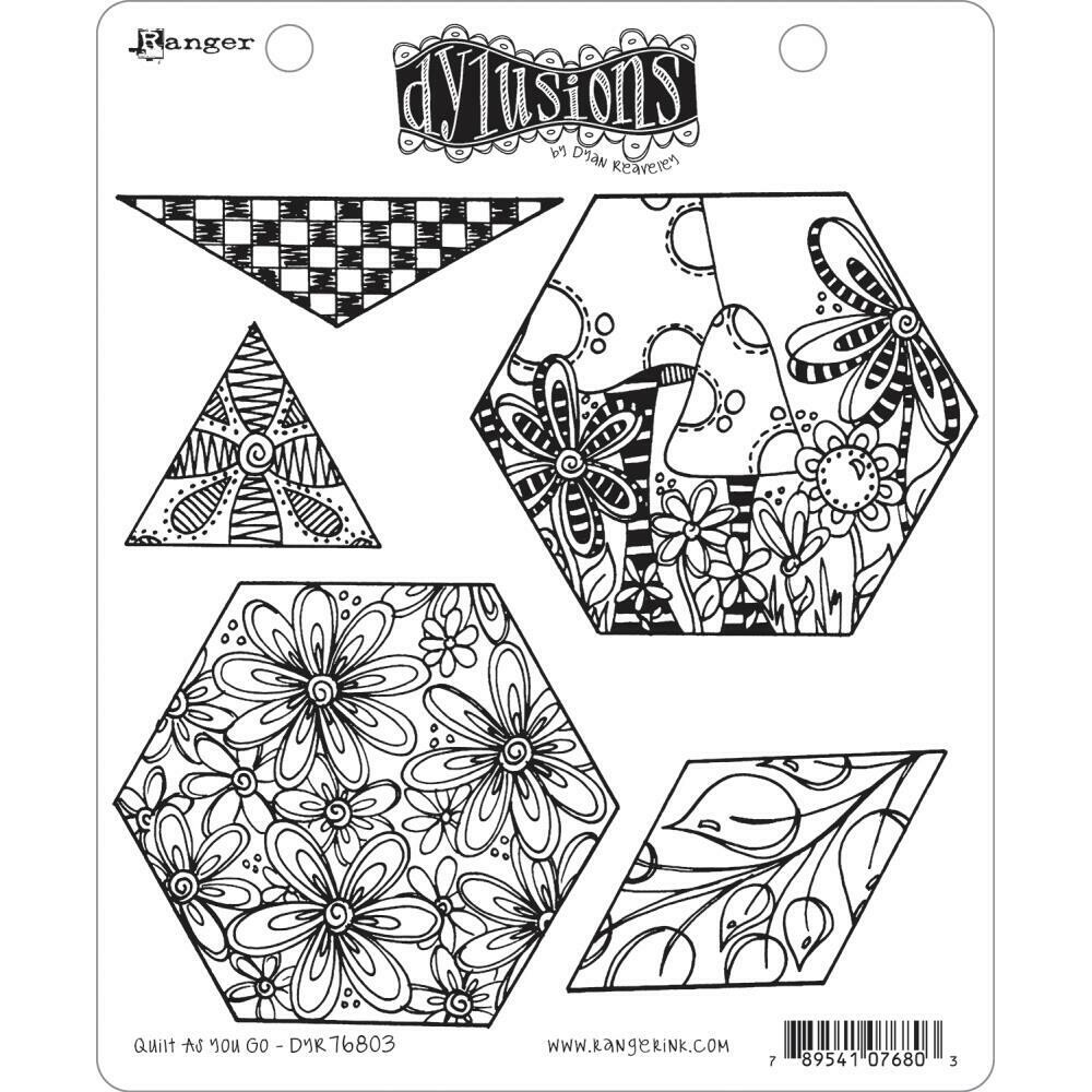 PREORDER Dylusions Cling Stamp Quilt as You Go