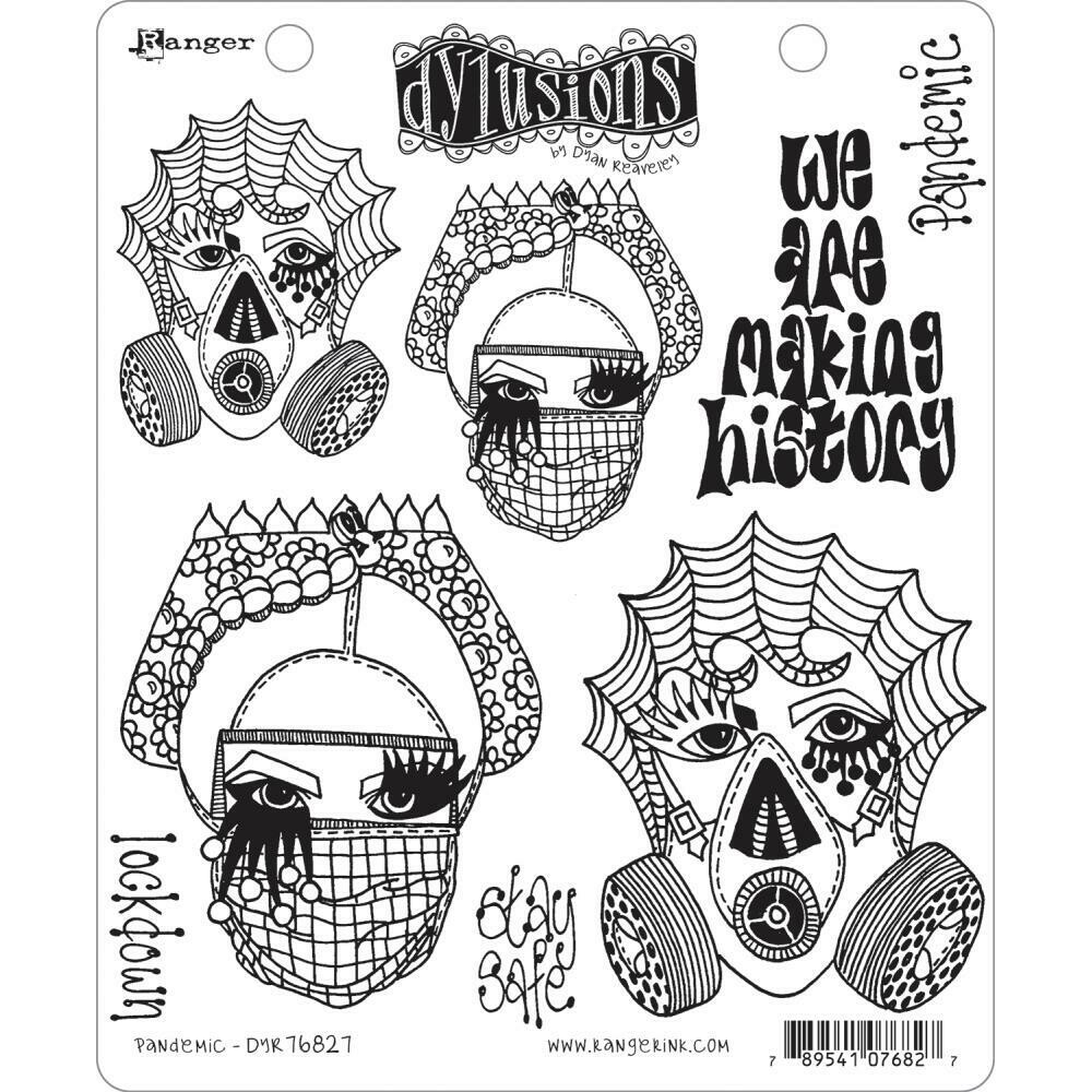 PREORDER Dylusions Cling Stamp Pandemic