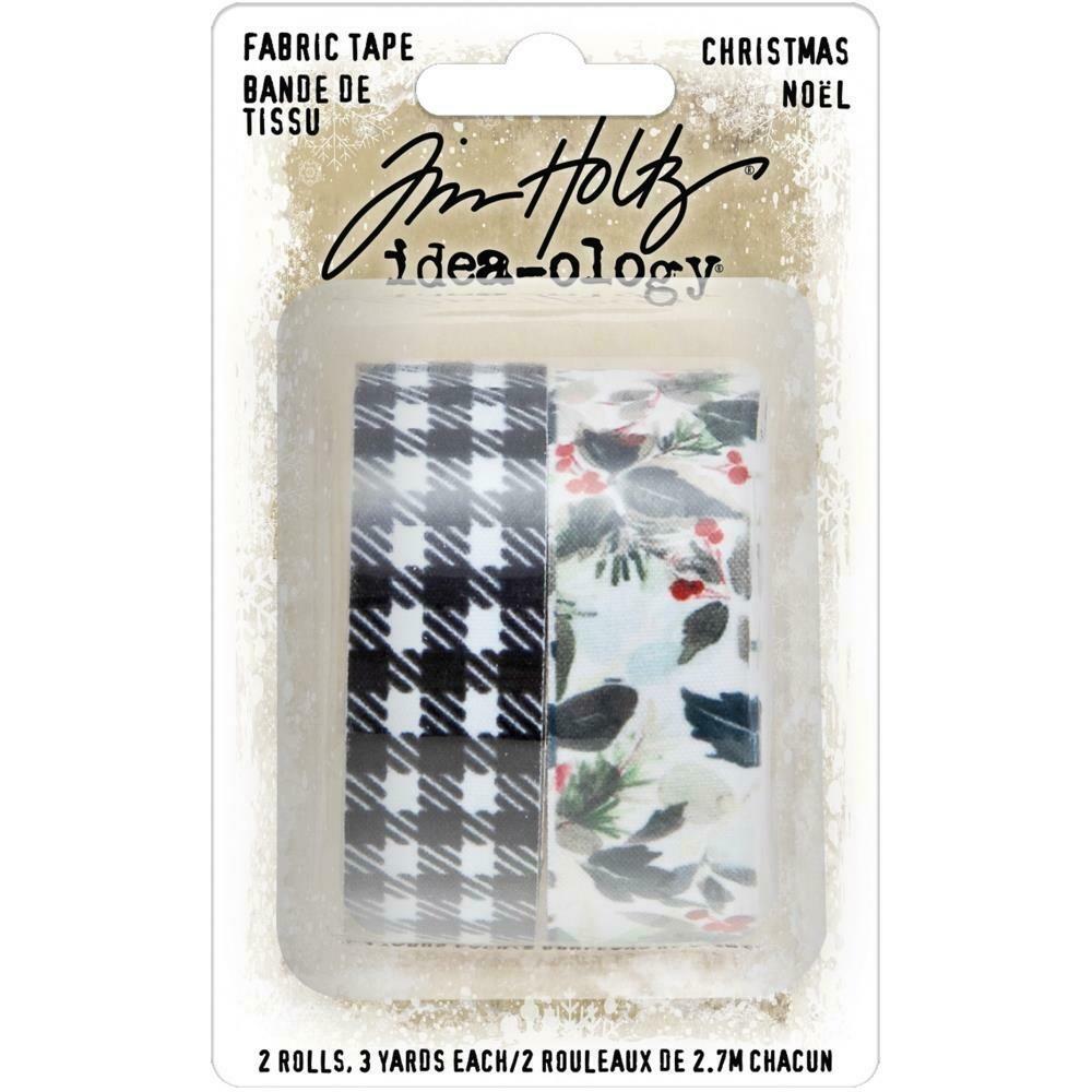 Tim Holtz Idea-Ology Christmas 2020 Fabric Tape 2 rolls