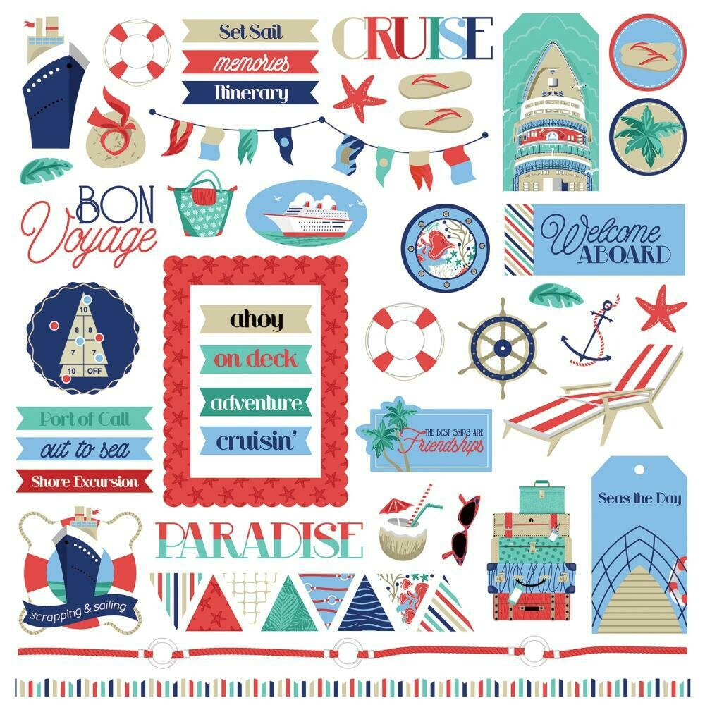 Photo Play - Set Sail - 12x12 Sticker Elements