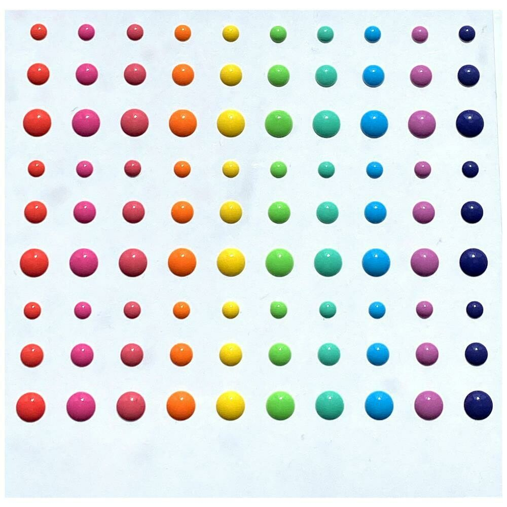 Pure and Simple Glossies Enamel Dots - Party Mix 90/pkg