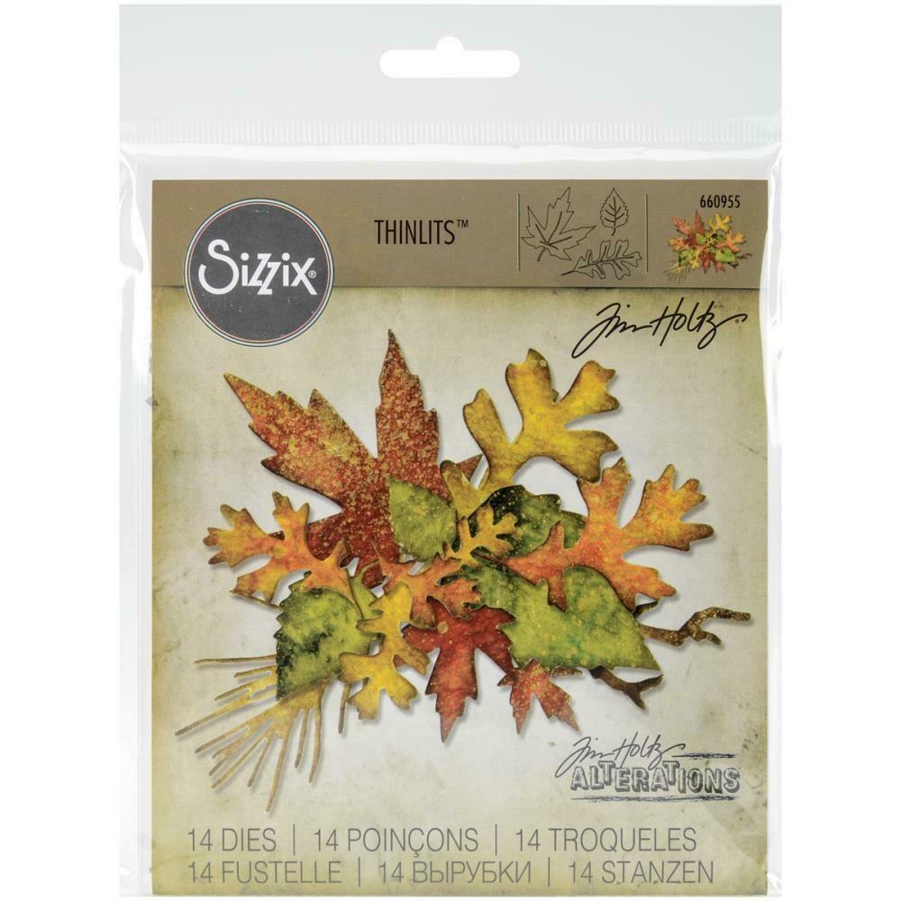 Tim Holtz Sizzix Thinlits Dies Fall Foliage 14/pkg