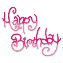 Sizzix Sizzlits Medium - Happy Birthday #3