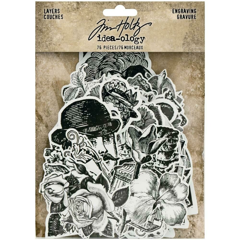 Tim Holtz Idea-Ology Layers Engraving 78/pkg