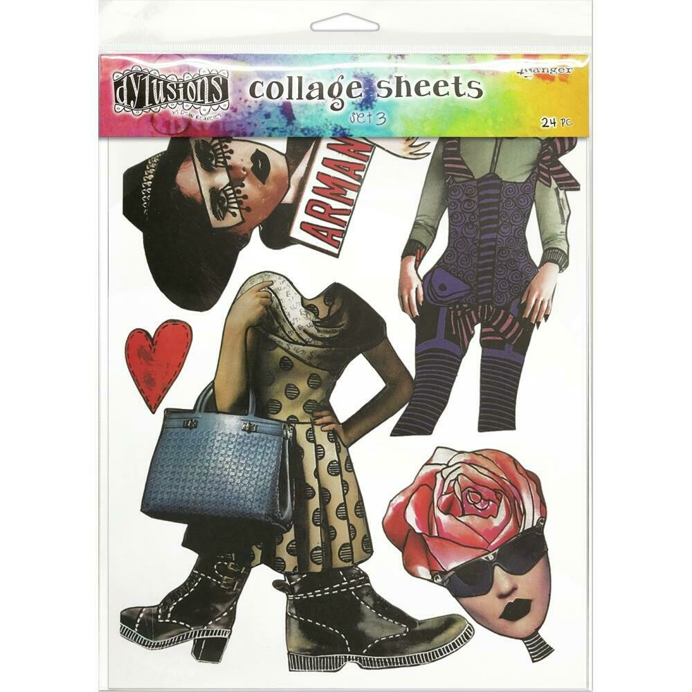 """Dyan Reaveley's Dylusions Collage Sheets 8.5""""X11"""" Set 3"""