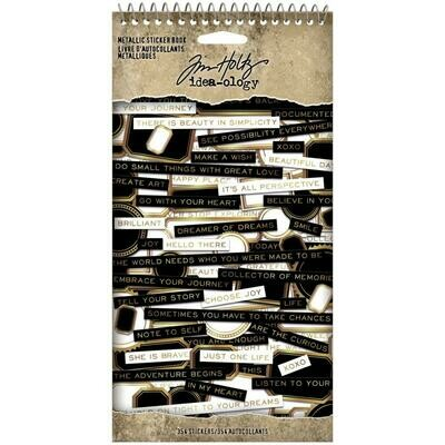 Tim Holtz Idea-Ology Metallic Sticker Book 354/pkg