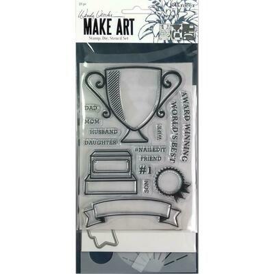 Wendy Vecchi Make Art Stamp, Die and Stencil Set - Award Winning