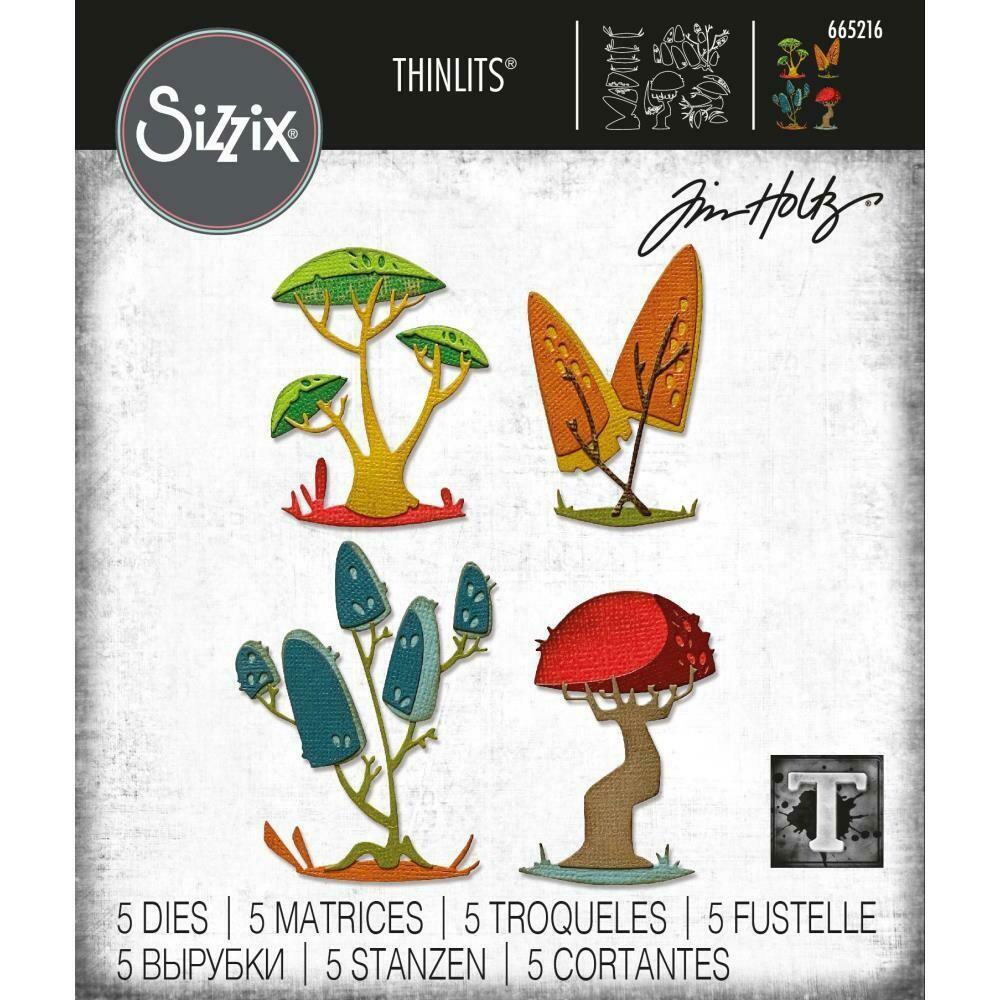 Tim Holtz Sizzix Thinlits Dies Funky Toadstools