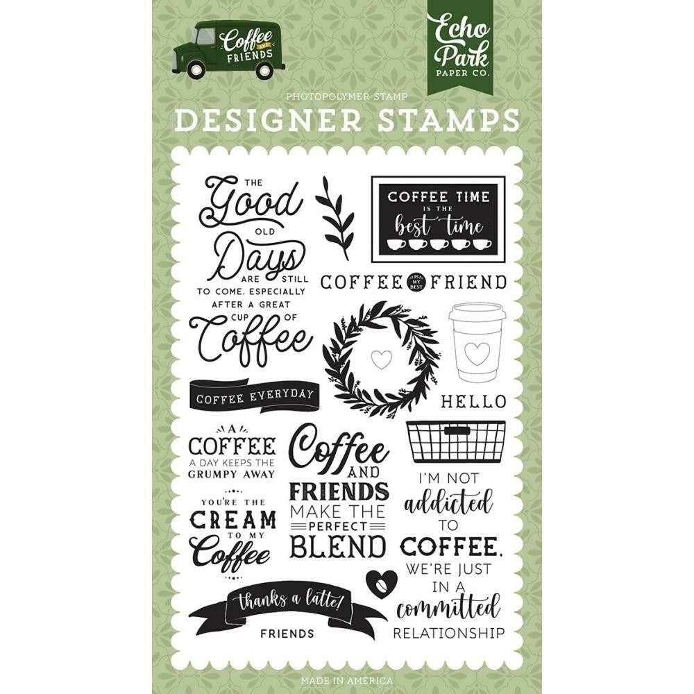 Echo Park Designer Stamps Coffee Addict