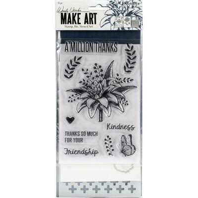Wendy Vecchi Make Art Stamp, Die and Stencil Set - A Million Thanks