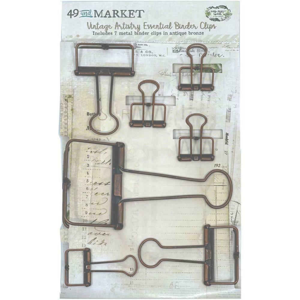 49 and Market Vintage Artistry Essentials Binder Clips