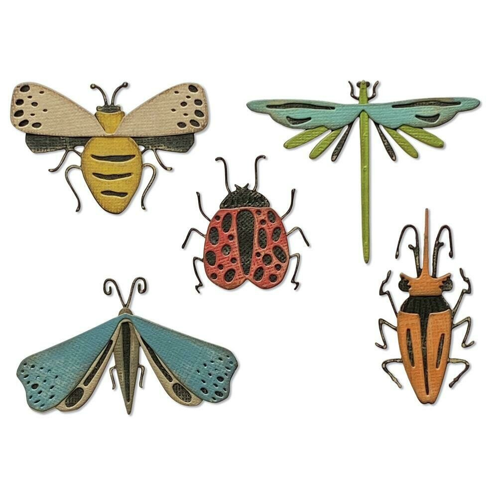 Tim Holtz Sizzix Thinlits Die Funky Insects
