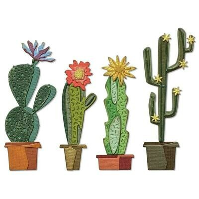 Tim Holtz Sizzix Thinlits Dies Funky Cactus