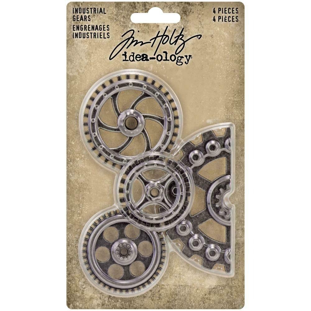 Tim Holtz Idea-Ology Industrial Gears 4/pkg
