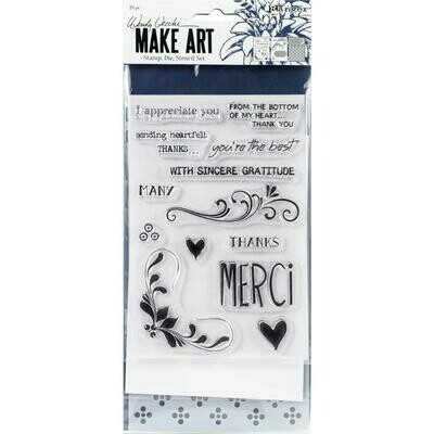 Wendy Vecchi Make Art Stamp, Die and Stencil Set - Merci