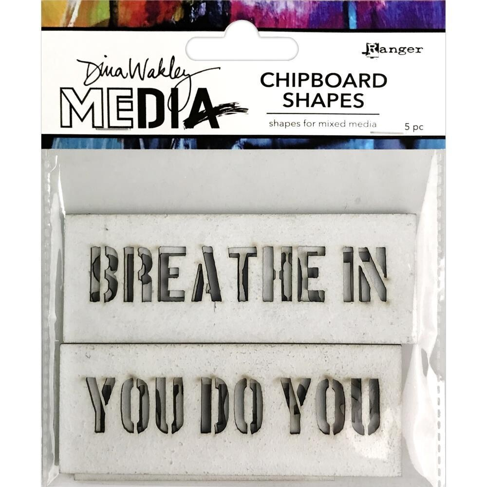 Dina Wakley Media Chipboard Shapes Speak Out 5/pkg