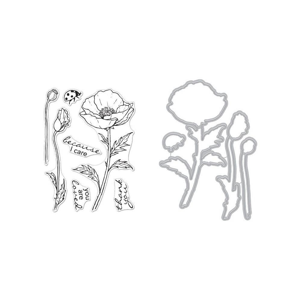 Hero Arts Stamp and Die set - Poppy