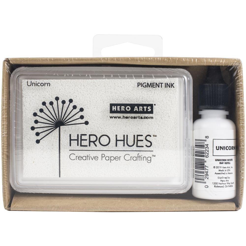 Hero Arts Dye Ink Pad and Re-inker Unicorn (white)
