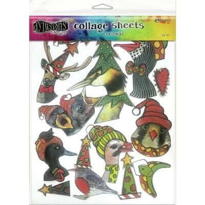 """Dyan Reaveley's Dylusions Collage Sheets 8.5""""X11"""" Christmas"""
