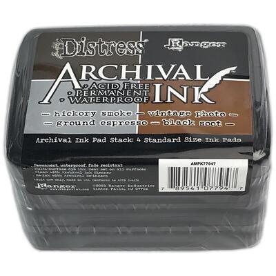 Tim Holtz Distress Archival Ink Pad Stack 4/pkg