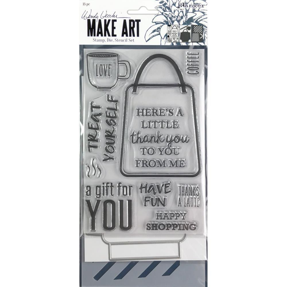 Wendy Vecchi Make Art Stamp, Die and Stencil Set - Let's Shop